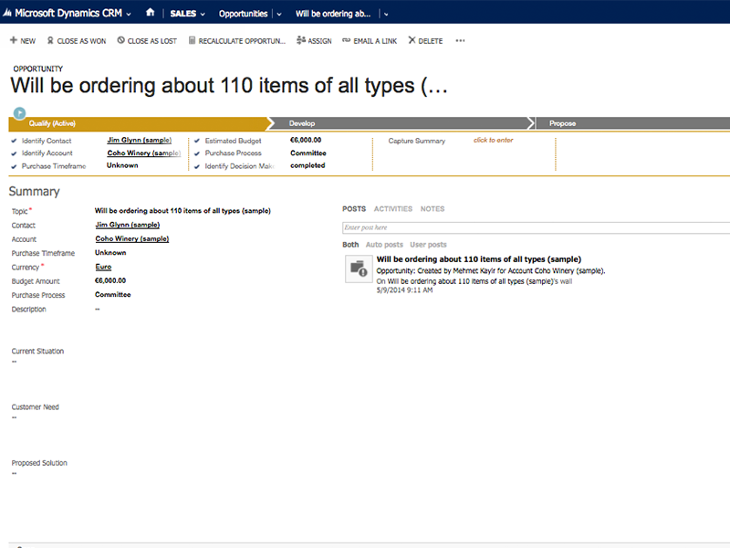 dynamics crm sales opportunity lifecycle